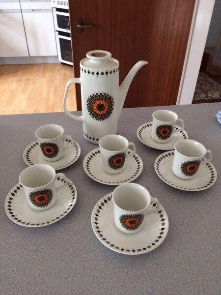 Retro Meakin coffee set
