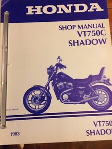 1983 Honda VT750C Shadow Shop Manual Regina Regina Area image 1