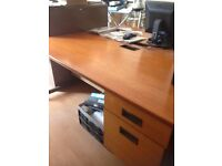 Lovely solid desk with build in side drawers