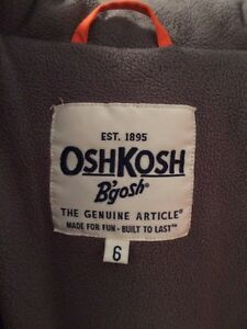 Boys Oshkosh Winter Jacket Size 6 Cambridge Kitchener Area image 4