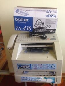 LASER FAX AND PRINTER and CARTAGE incl.- BROTHER-4100
