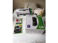 XBox 360 with Kinect, controller