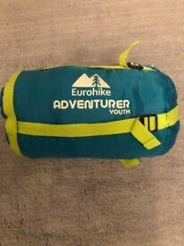 Eurohike Adventurer Youth sleeping bag, 2-3 seasons, green