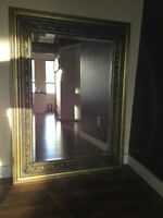 Antique Gold Wooden Framed Mirror
