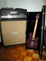 Ernie Ball Music Man EVH (Mint) with Peavey 5150II Half Stack