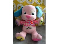 Fisher price pink laugh n learn puppy