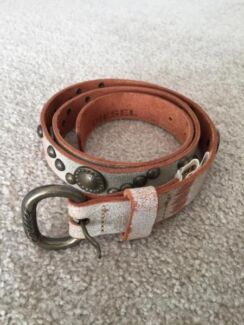 DIESEL Leather Belt with studs Size85 made in Italy