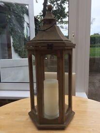 Large wooden lantern