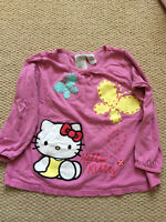 H&M pink Hello Kitty w butterflies top, 98/104 or 2-4 years