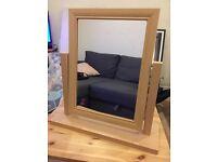 Freestanding vanity mirror