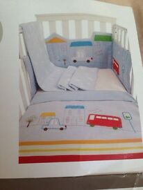 Mother care Baby Boy's Cot Bumper Set OL67EX