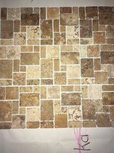 Brand New Tumbled Limestone Backsplash