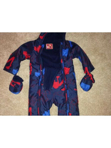 Marks and Spencer, indigo baby range Winter all in one suit.