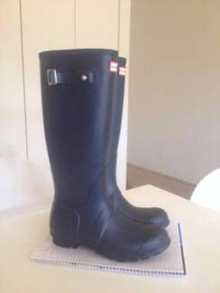 Hunter Wellington Boots Navy - as new! Marryatville Norwood Area Preview