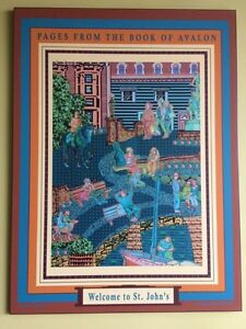 """Painting poster """"Pages from the book of Avalon""""  St. John's Newfoundland image 2"""