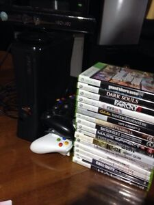 250Gb Xbox 360, 3 Controllers, 16 Games and Kinect