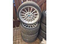 "BMW style 32 alloy wheel, 18"" staggered 5x120 rare flat faces e46 e36 e90"