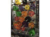 Reebok Plates Free Weights Squat Bar