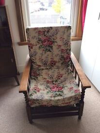Antique lounger chair