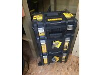 Dewalt t stack work tool boxes x3 mint condition