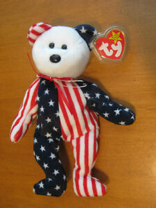 BEANIE BABY SPANGLE BEAR WITH TAGS