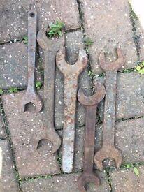 Vintage/Antique Spanners - large gauge