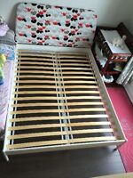 king size bed frame and firm mattress