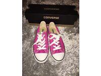 Pink Slim Converse- Size 4