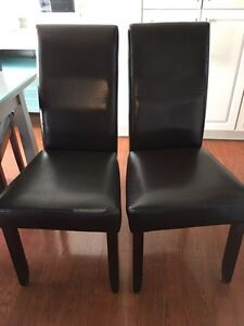 4 Brown Parsons Chairs