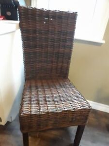 Wanted Wicker Dining Chairs