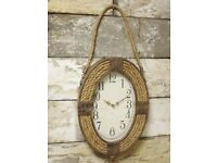 Vintage Style Nautical Rope Clock