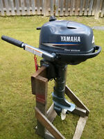 2009 Yamaha 4hp four stroke short shaft outboard motor