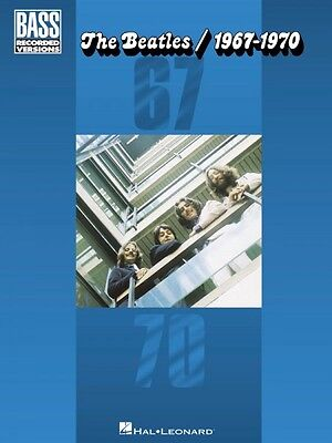 The Beatles 1967-1970 Sheet Music Bass Recorded Versions NEW 000690557
