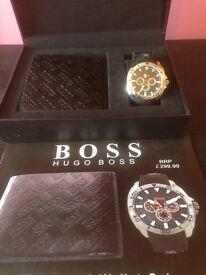 Hugo boss men's watch and wallet gift set