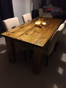 Hand made Solid pine harvest table