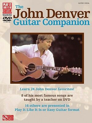 The John Denver Guitar Companion Sheet Music Book with DVD NEW 002501592