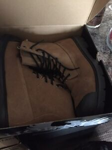 Steel toed work boots - size 14
