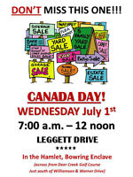 THE CANADA DAY GARAGE SALE YOU DON'T WANT TO MISS!!!