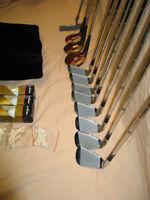 Sac + bâtons de golf (droitier)