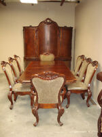 Complete Pkg: Table with Extensions, 6 Chairs, Buffet; Clearance