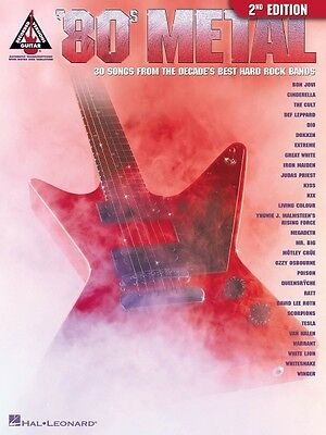 80s Metal 2nd Edition Sheet Music Guitar Tablature Book NEW 000690430 (80s Metal 2nd Edition)