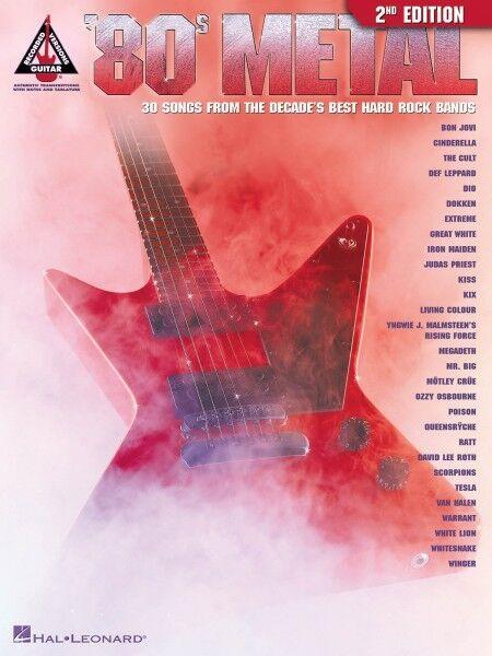 80s Metal 2nd Edition Sheet Music Guitar Tablature Book NEW 000690430
