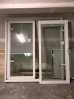 Brand new glass sliding door with built in blinds