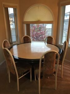 Marble table with chairs Edmonton Edmonton Area image 2