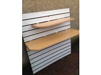 2HEAVY DURY STRONG SLAT WALL SHELVES **