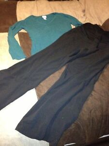 Size med Thyme pants and motherhood top