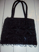 Brand New, black beaded purse, great for wedding