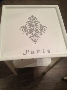 Paris Table White Grey Paint Wood Shabby Chic Decor Room Display Oakville / Halton Region Toronto (GTA) image 1