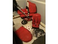 Red Bugaboo frog Travel System