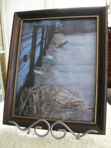 An OLD VINTAGE HIGH-WATER DISASTER FRAMED PRINT..['60's]